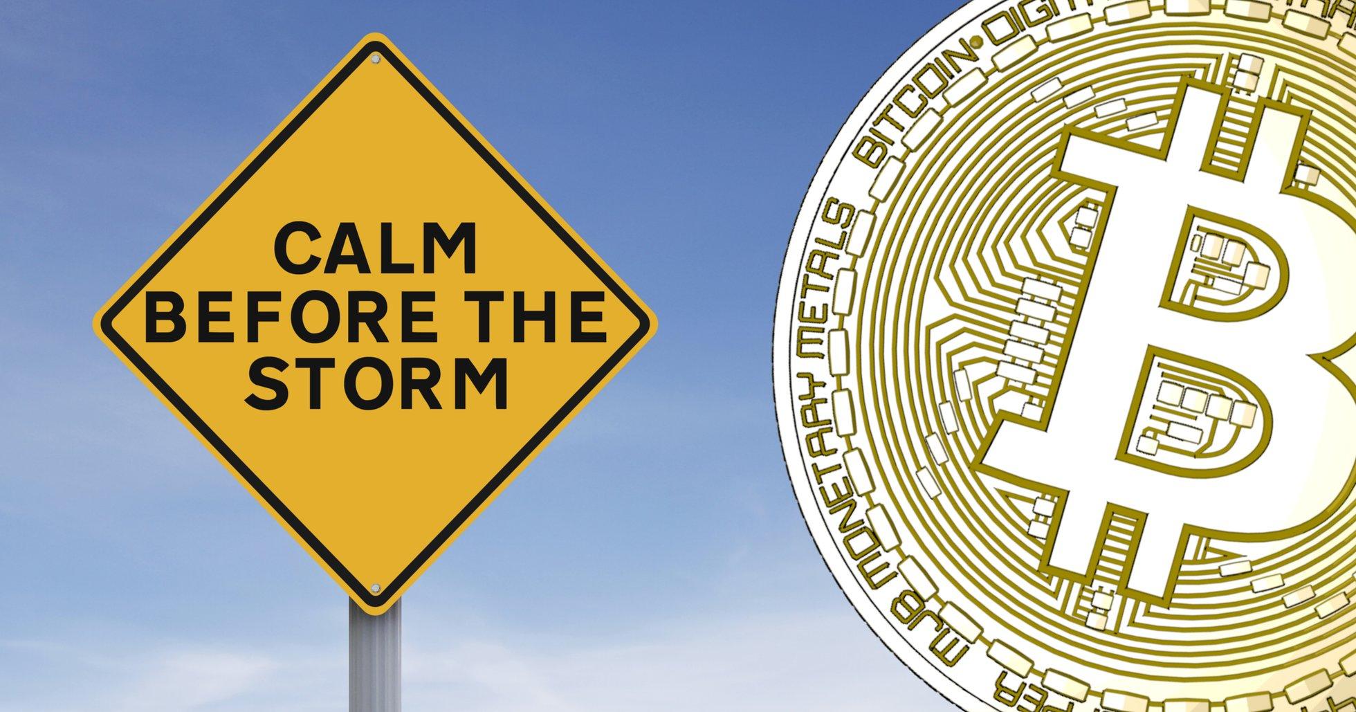Bitcoinpriset har nu legat stilla i en månad.