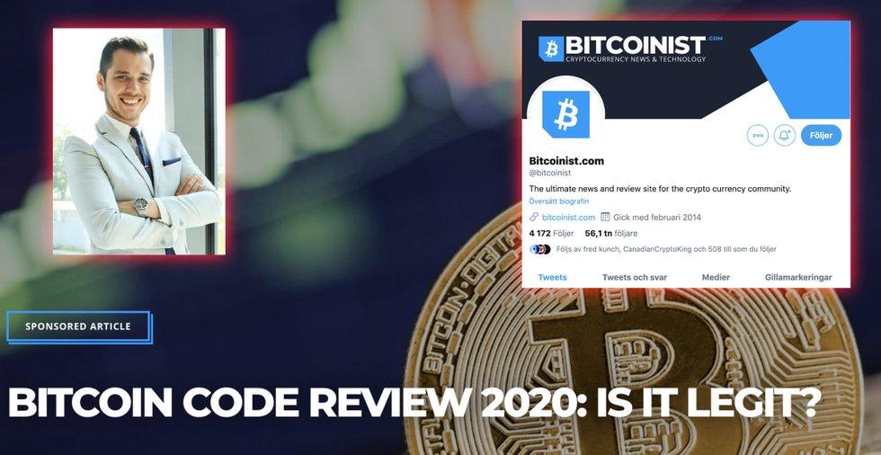 Respekterade kryptosajten Bitcoinist publicerar bluffartikel om bedrägeriet Bitcoin Code