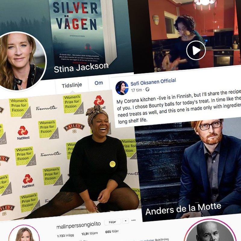 Här är författarna som är stjärnor i sociala medier