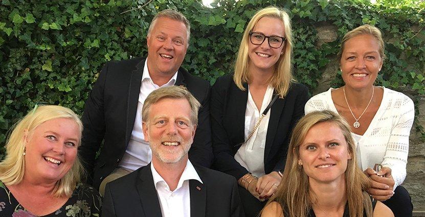 Ett Scandic-gäng: Carina Hammander, Peter Jangbratt, Henrik Dider, Heidi Wold, Christine Fraser och Åsa Keller Wannem.
