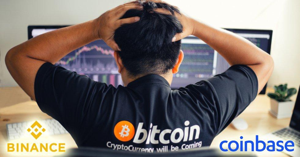 Flera stora kryptobörser hade problem under onsdagens prisras