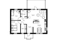 Se planritning för Villa Mjällom