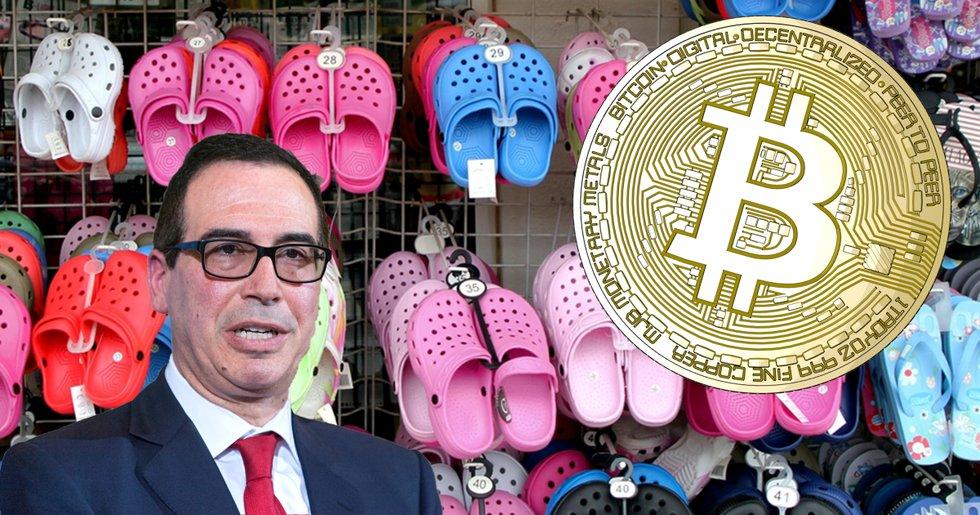 USA:s finansminister kritiserar bitcoin: Kommer inte prata om det om fem år