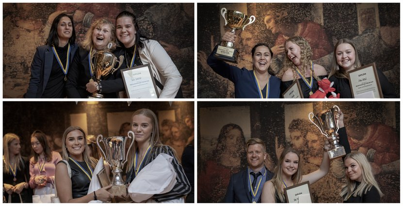 Glada vinnare i Gymnasie-SM. Foto: Lena Larsson