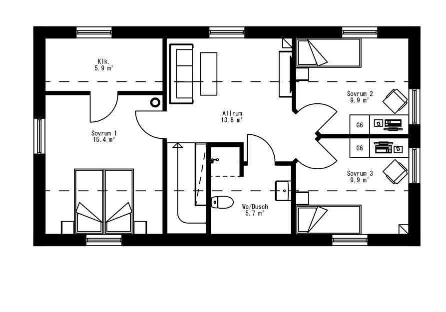 Planritning för Villa Alderskär