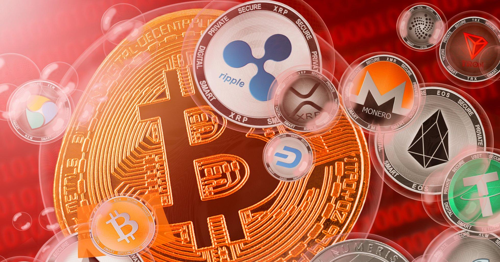 Bitcoinpriset fortsätter nedåt – xrp går mot strömmen.