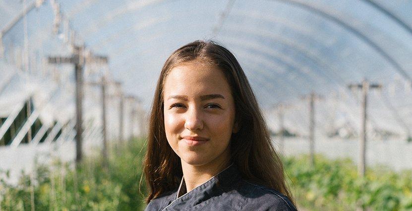 Köksmästaren Hanna Lukowieskys dröm är att starta eget om 6-7 år. Foto: Lilla Bjers