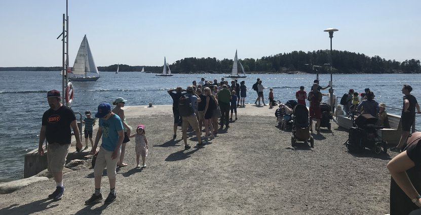 Högtryck för turismen i Sverige. Foto: Maud Lindholm