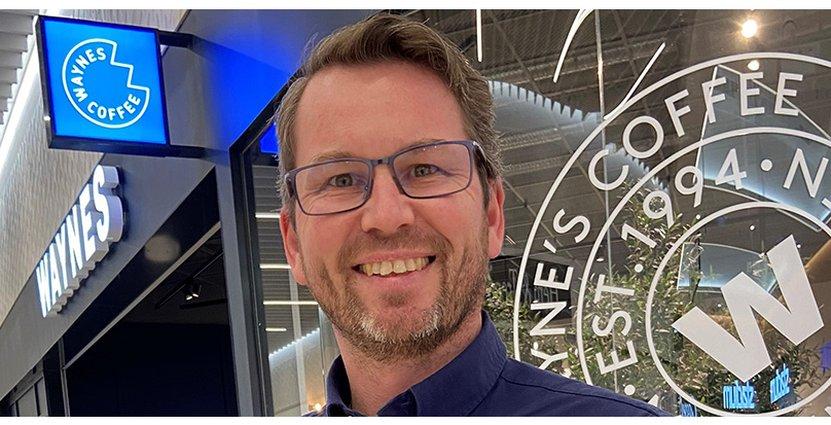 Joakim Carlsson blir ny vd för Waynes coffee. FOTO: Pressbild