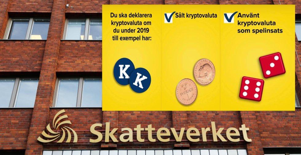 Skatteverket påminner om deklaration av kryptovalutor – på Instagram