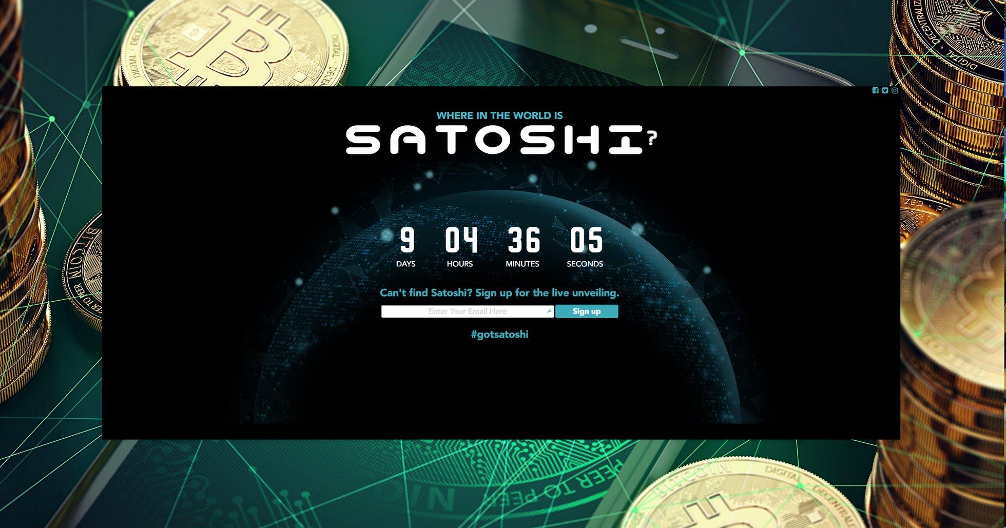 En ny sajt, Gotsatoshi.com, säger sig vara Satoshi Nakamoto, och planerar att avslöja bitcoingrundarens identitet den 14 maj.