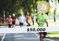 Bitcoinpriset slår nytt rekord – men vägrar passera 50 000 dollar
