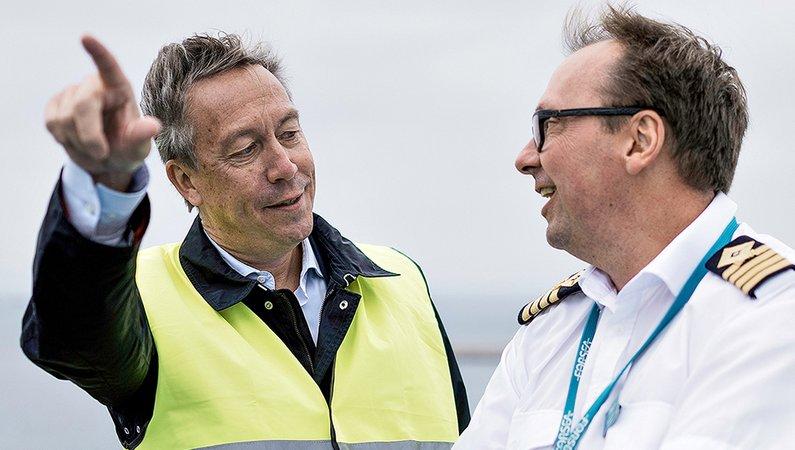 Johan Röstin, VD, och chefskapten Håkan Andersson