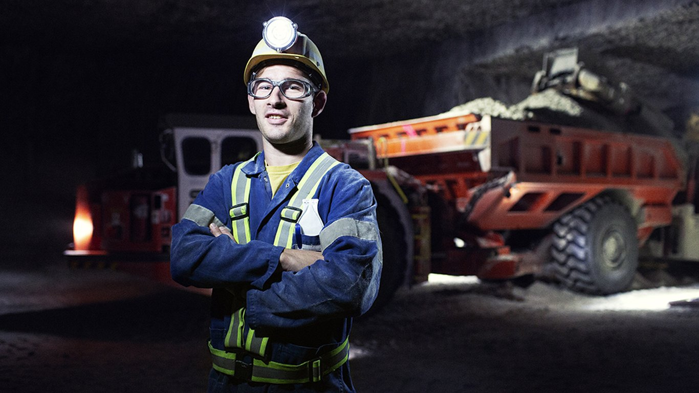 <p>Operator Marvin Traub runs continuous miners and occasionally drives trucks at Südwestdeutsche Salzwerke AG's Heilbronn mine.</p>