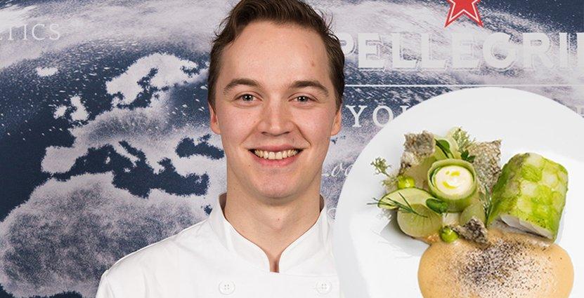Anton Husa och hans tävlingsrätt med torsk.  Foto: Pressbild.