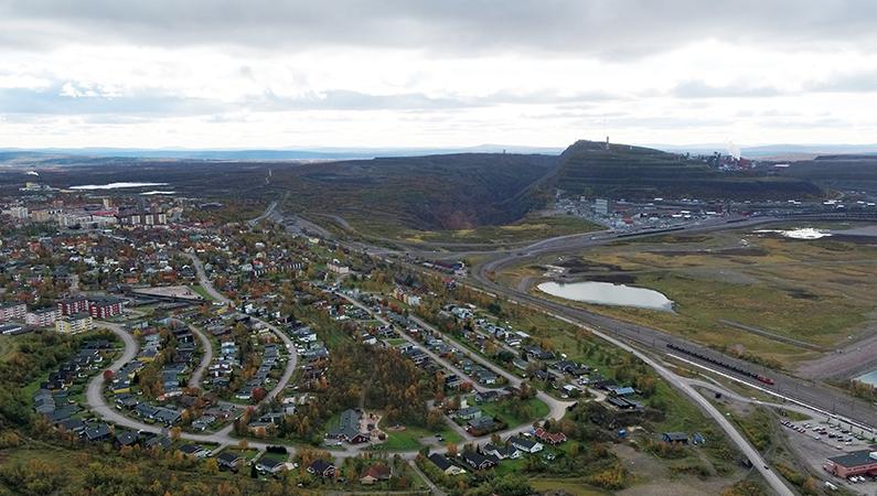 Konsuln ligger i södra delen av Kiirunavaara och är en mindre, nästan separat del av Kirunagruvan. Gruvan har tidigare använts i forskningssammanhang fungerar idag som testområde i SUM-projektet. Foto: LKAB.
