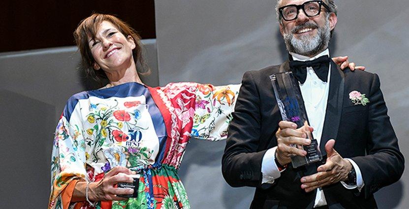 Ett av restaurangvärldens mesta power couples. Lara Gilmore och Massimo Bottnar. Foto: The World's 50 Best Restaurants