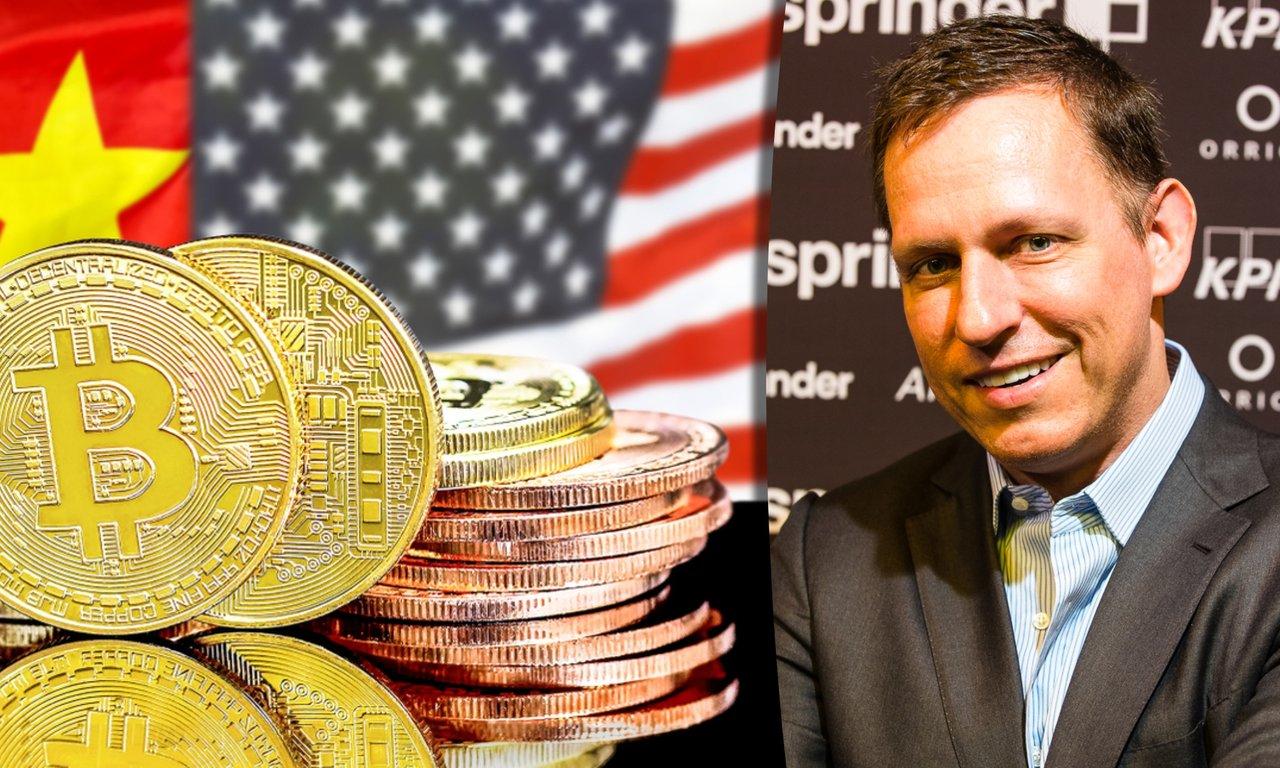 Miljardären Peter Theil: Kina använder bitcoin som vapen mot USA