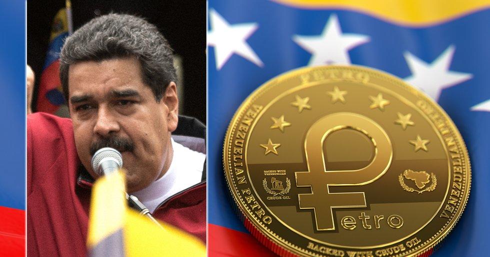 Venezuelas president Nicolás Maduro beordrar storbank att använda petron.