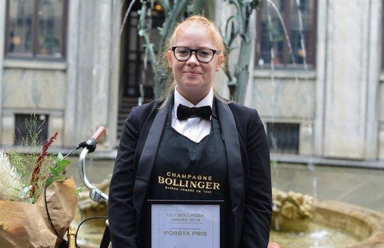En bubblande seger för sommelier Hanna Eriksson
