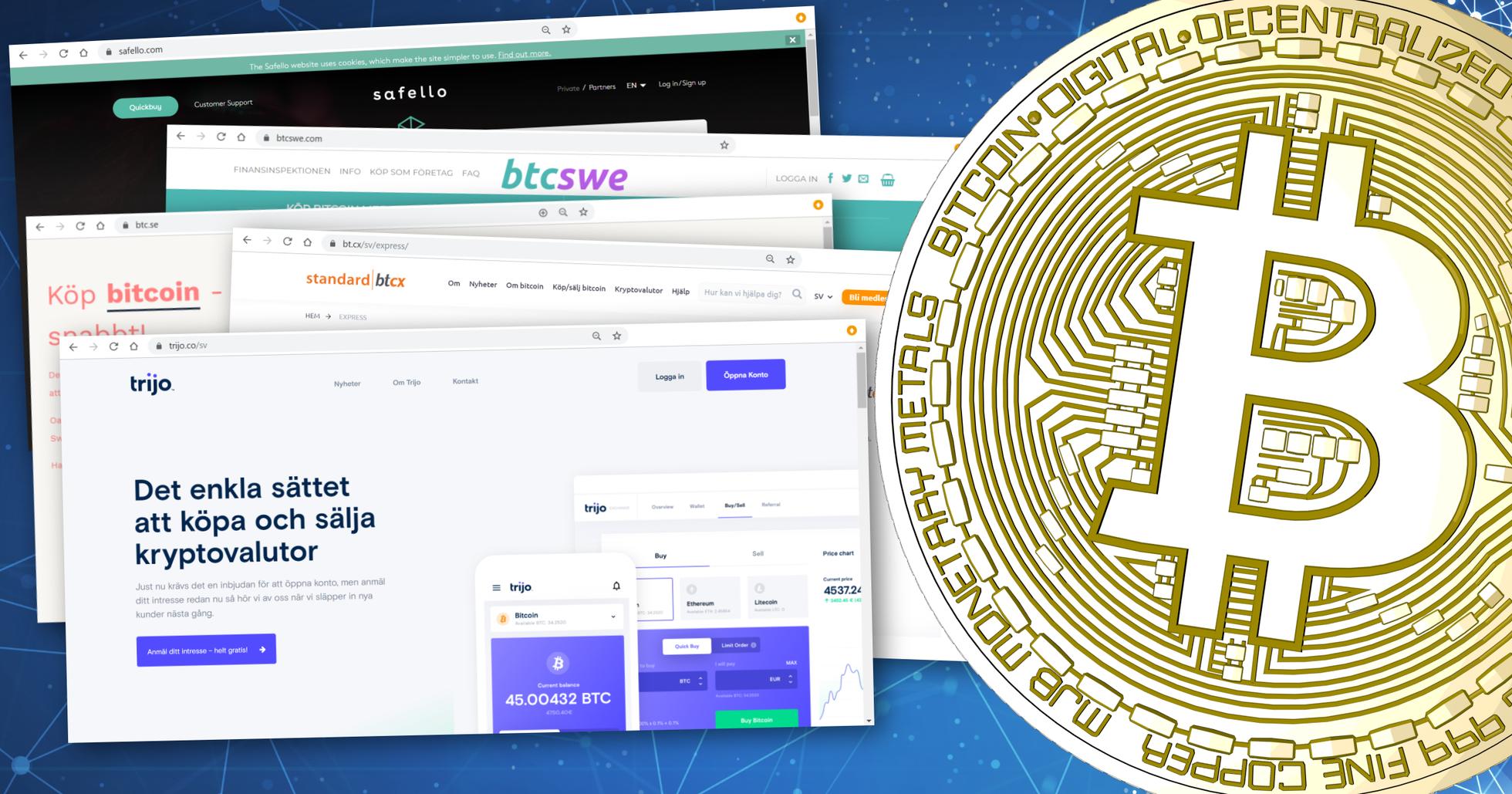 Här är de bästa sajterna för svenskar som vill köpa bitcoin.