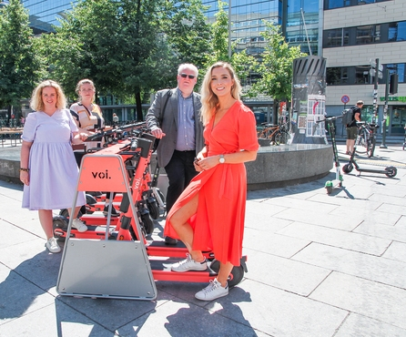 Voi launches parking racks in Oslo in a bid to address needs of vulnerable groups and improve e scooter parking