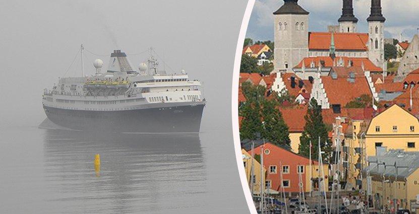 Den nya kajen i Visby väntas locka en våg av kryssningsturister till<br />  Gotland. Fartyget Aurora förde idag med sig 550 passagerare.