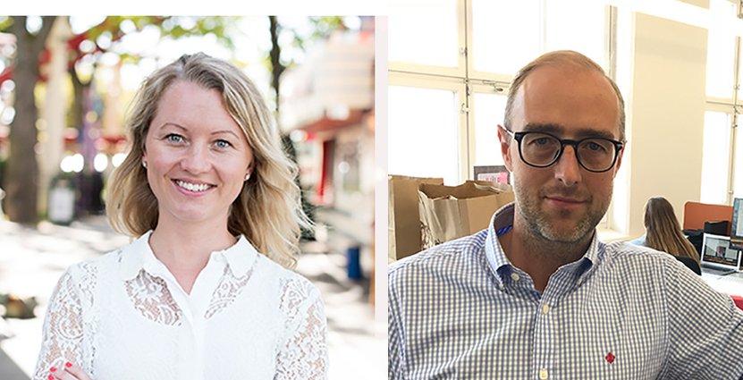Caroline Lidholm från Gröna Lund och Fredrik Moser<br />  från KFC/Burger King är på plats under Järvaveckan. Foto: Gröna Lund, Nordic Service Partners