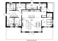 Se planritning för Villa Vedastrand
