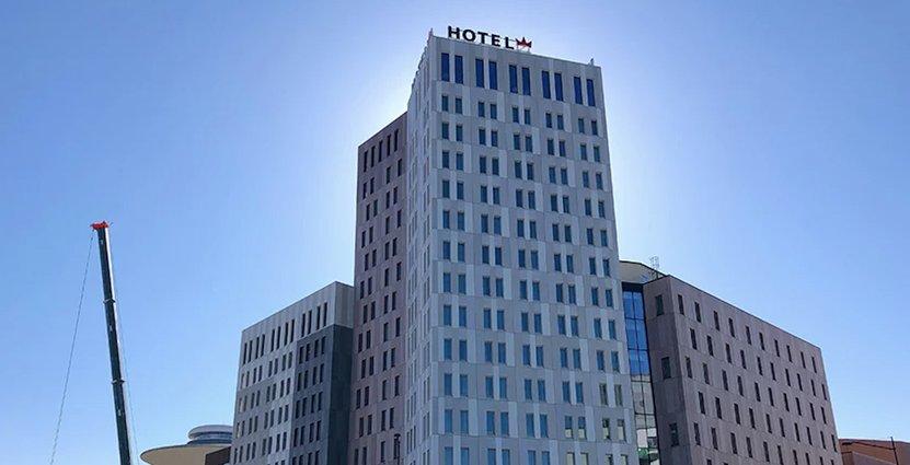 Malmö Arena Hotel, ett av de hotell vars vd:ar och hotelldirektörer står bakom debattartikeln. Foto: Pressbild