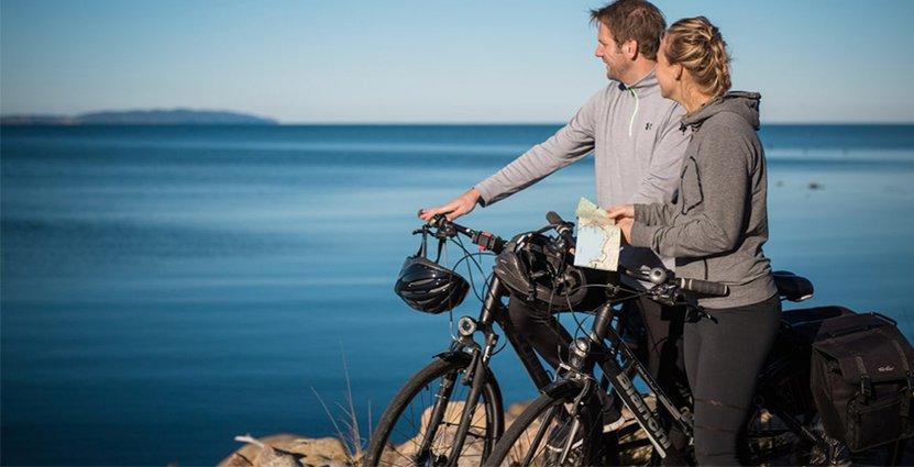 Nästa år hoppas man kunna erbjuda 20 olika paket med mat och cykling. Foto: Visit Halland