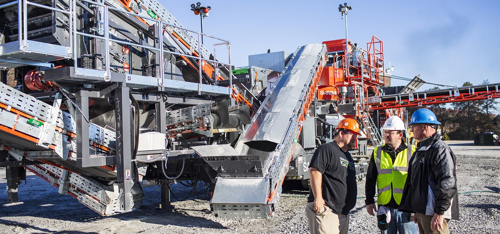 The quarry invested in a mobile plant primarily because it provides pit design flexibility.