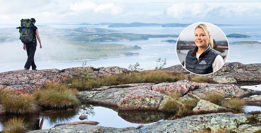 Maria Lundkvist på Höga Kusten Turistservice menar att priset <br /> har skapat nationell uppmärksamhet för Höga Kusten. Foto: HK Destinationsutveckling