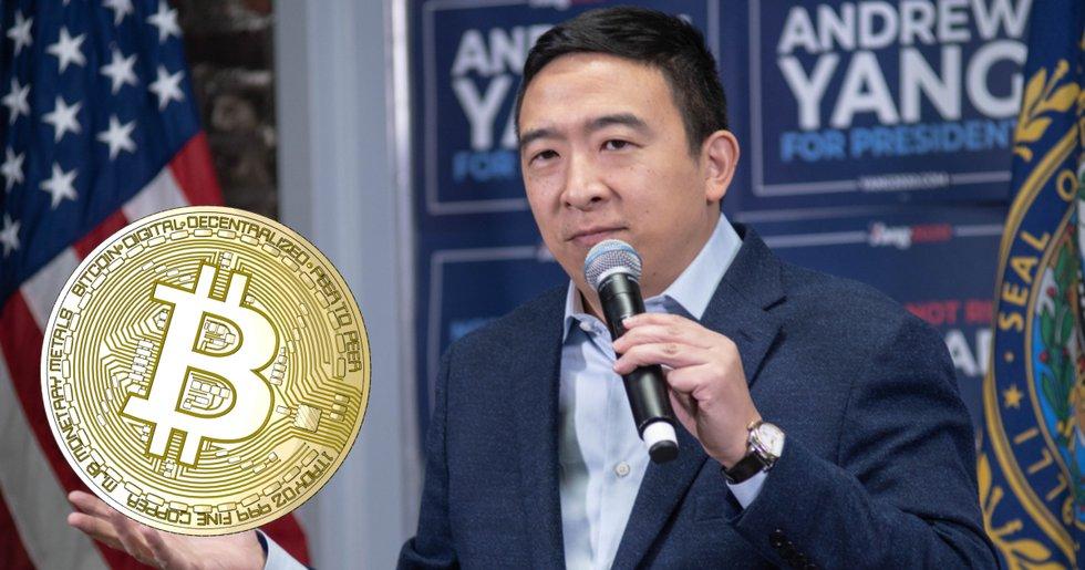 Kryptopositive Andrew Yang kan bli USA:s nya näringslivsminister