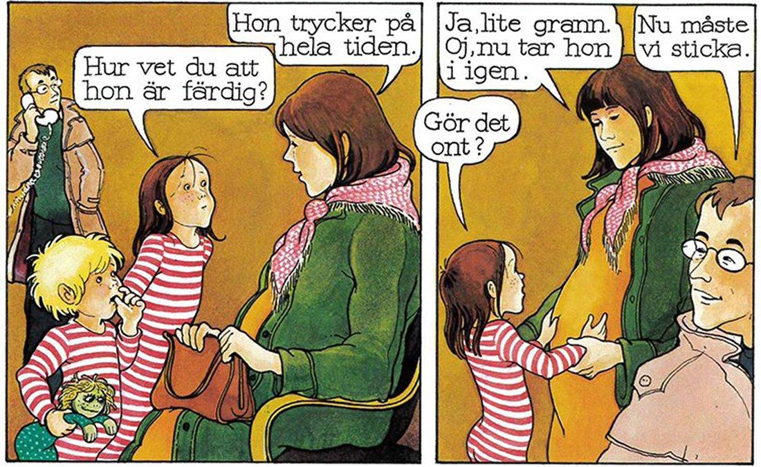 """Se bilderna ur kultboken """"Per, Ida och Minimum"""" – om hur barn blir till"""