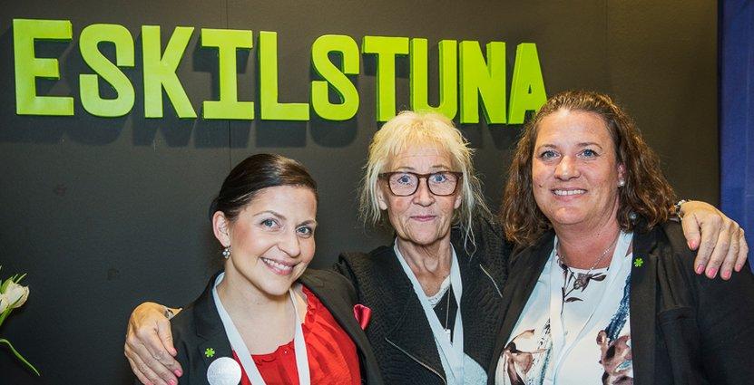 Eskilstuna representerades av Lina Granberg, reception på Clarion Collection Bolinder Hotel, Anne-Marie Pettersson på Sundbyholms slott och Emelie Gard på Eskilstuna Convention Bureau.