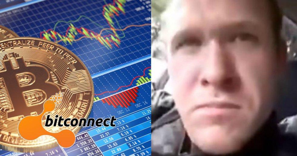 Suspected terrorist in New Zealand earned money on cryptocurrencies.