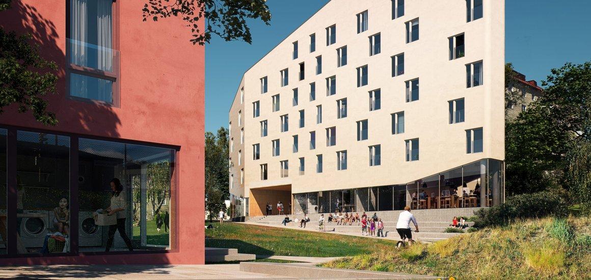 Finansborgarrådet tar första spadtag för studentlägenheter i Gubbängen