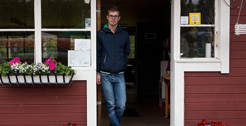 Från kök till camping. Christoffer Karlström har drivit Voxnabruk i sex år.