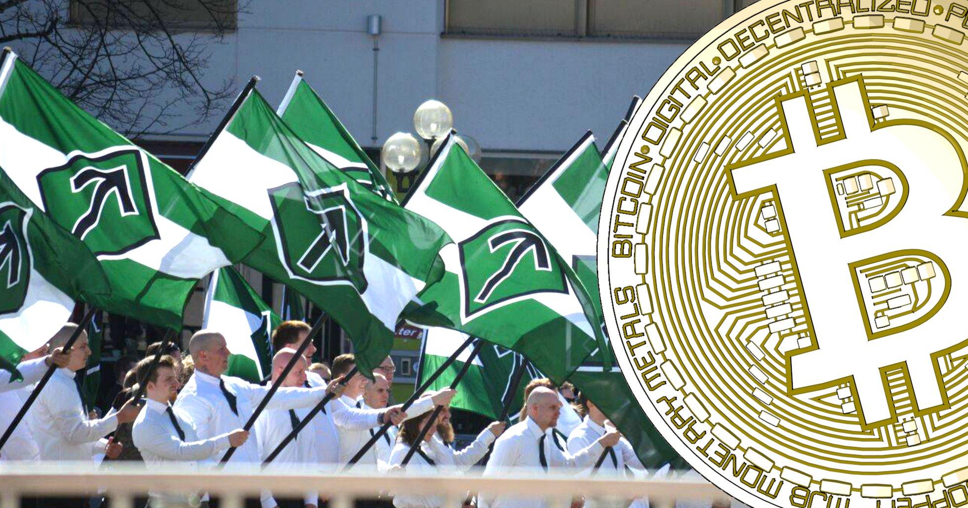 Svenska nazister har samlat in en miljon kronor i bitcoin.