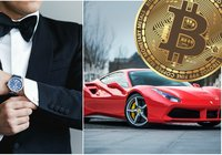 This new service lets bitcoin millionaires pay for luxury products with crypto