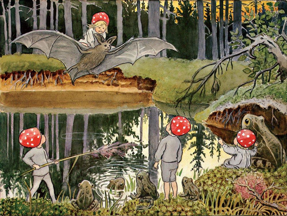 Illustration av Elsa Beskow, ur
