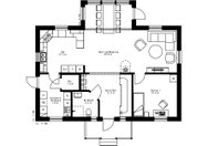 Se planritning för Villa Sandslån