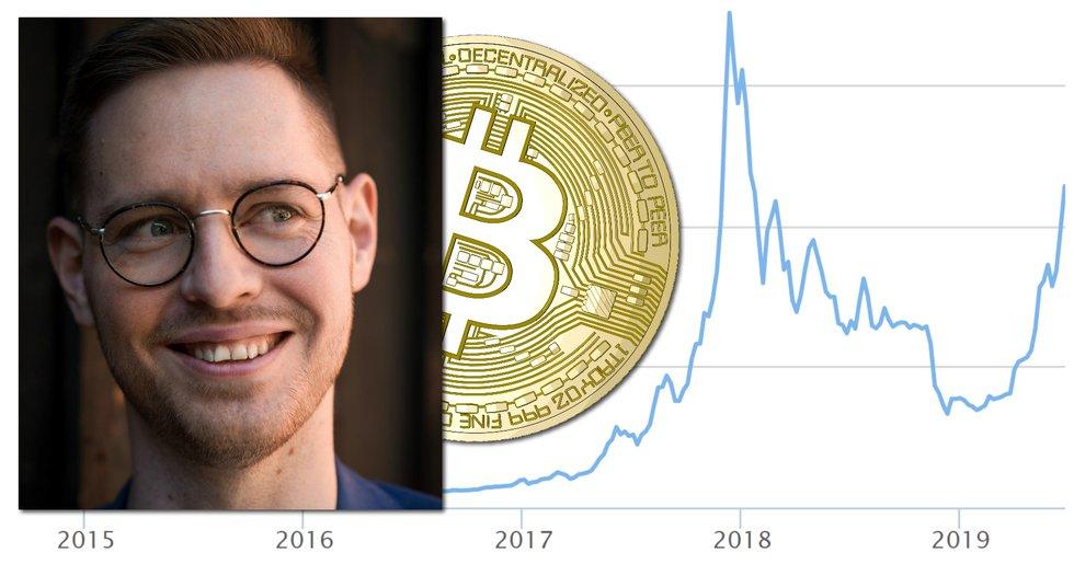 Bitcoin kan nå över 330 000 dollar innan mars 2020, skriver Totte Löfström, vd för Trijo News.