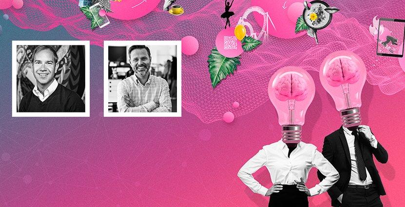De innovativa kliv som tagits under pandemin kommer stärka <br /> företagen, menar Christian Lundén (t v), Director of Projects <br /> på Nordic Choice, och Robert Arvidsson, kommersiell chef på <br /> Liseberg. Foto: Nordic Choice/Liseberg Illustration: Angelica Zander