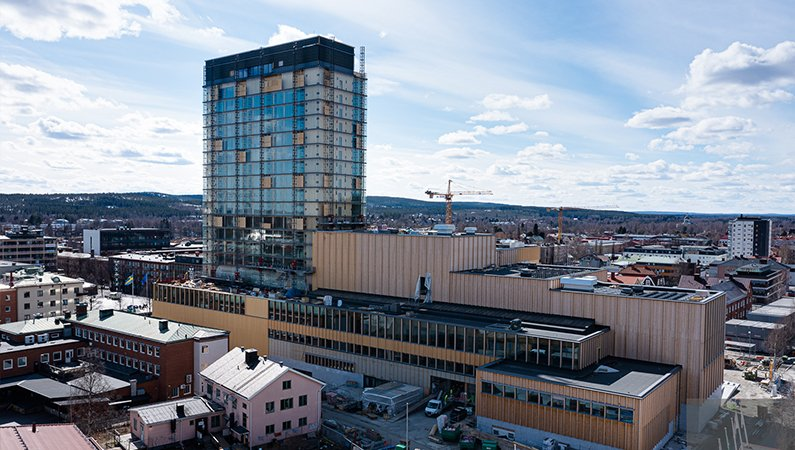 Nybyggda Sara kulturhus i Skellefteå är ett bra exempel på en byggnad som använder de lösningar som krävs för en hållbar framtid.