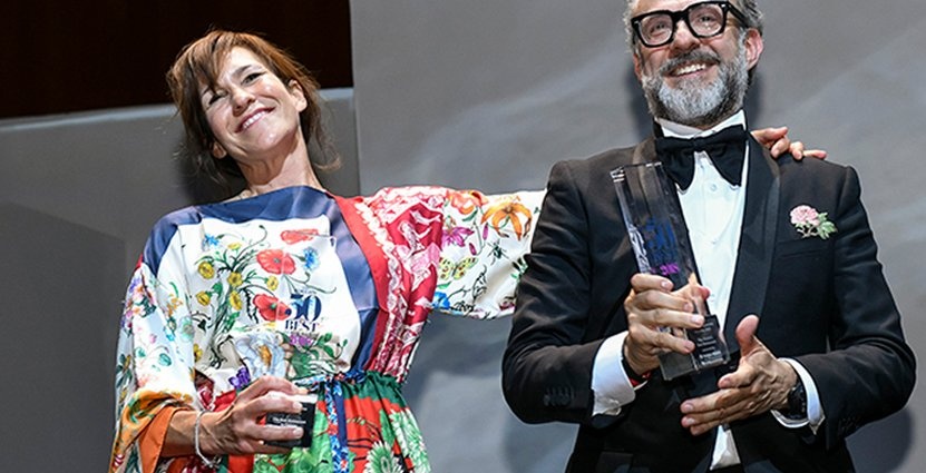 Ett av restaurangvärldens mesta power couples. Lara Gilmore och Massimo Bottnar. Foto: The World's 50 Best Restaurants
