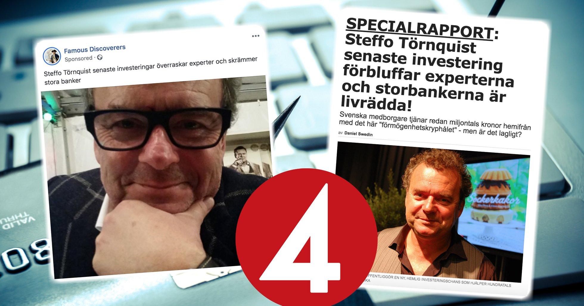 Steffo Törnquist utnyttjas i bitcoinbedrägeri – kopplar in TV4:s säkerhetsavdelning.