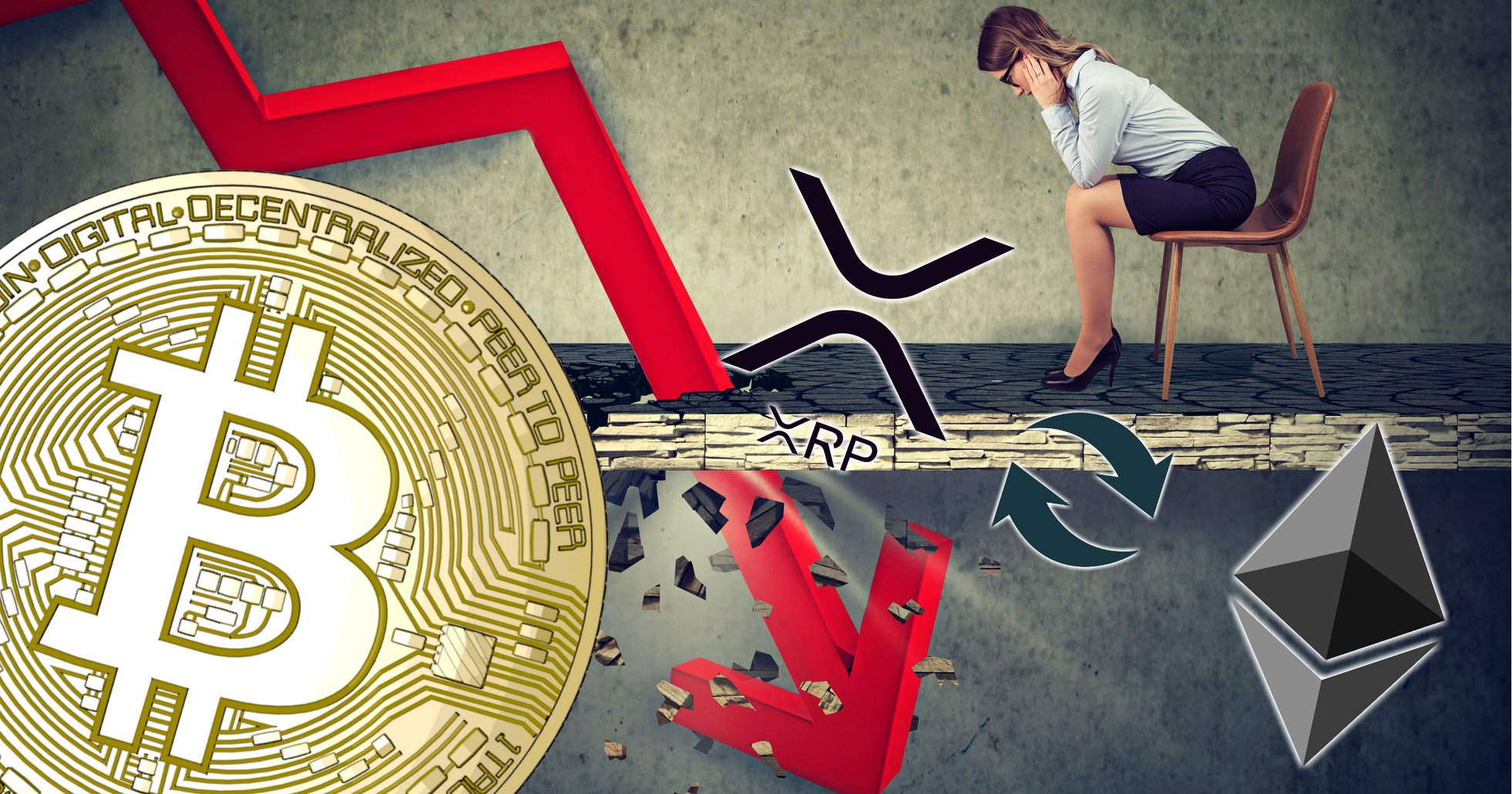Daily crypto: Blood red markets – bitcoin falls more than ten percent.