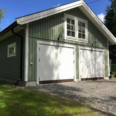 Förhöjt väggliv på garaget